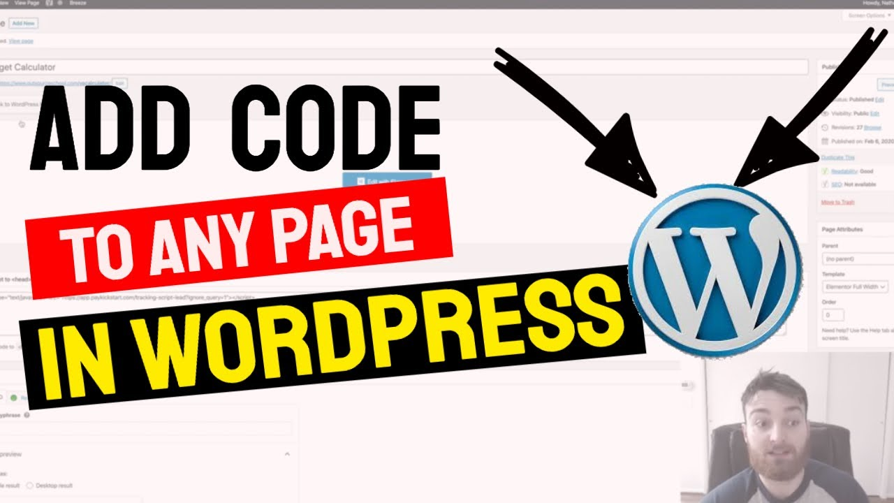How to Add Code to Website Header on Specfic Pages in Wordpress | Free Wordpress Tutorial
