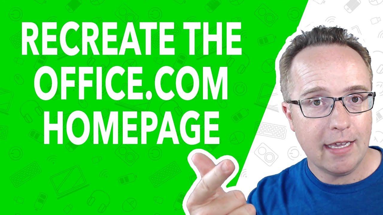 WordPress Tutorial For Beginners: Recreate The Office.com Homepage