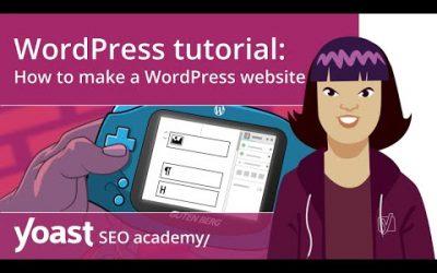 WordPress For Beginners – WordPress tutorial: How to make a WordPress website