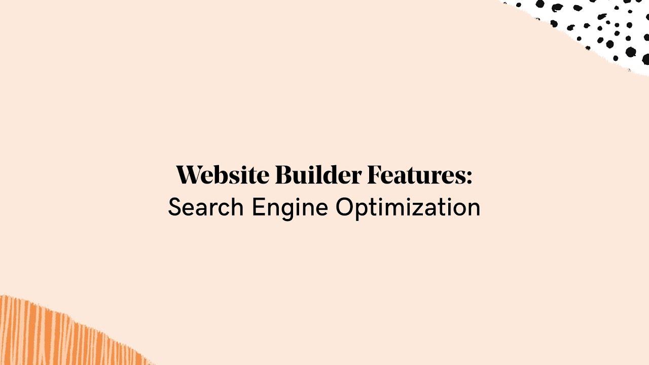 GoDaddy Website Builder Feature: Search Engine Optimization (SEO)