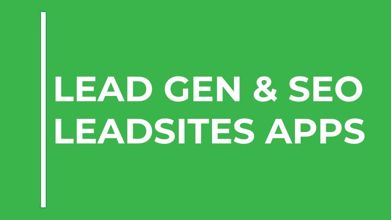 Lead Gen & SEO Tips - LeadSites