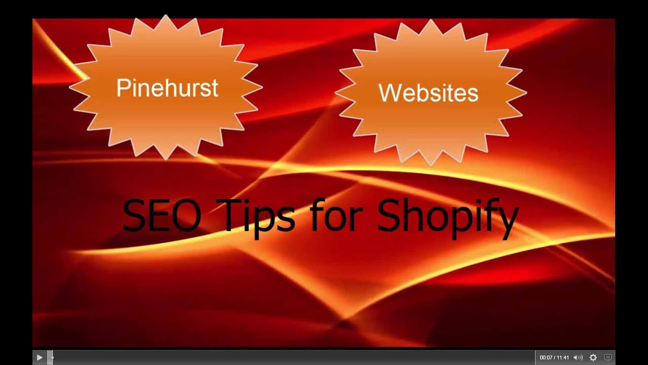 Seo Tips for Shopify