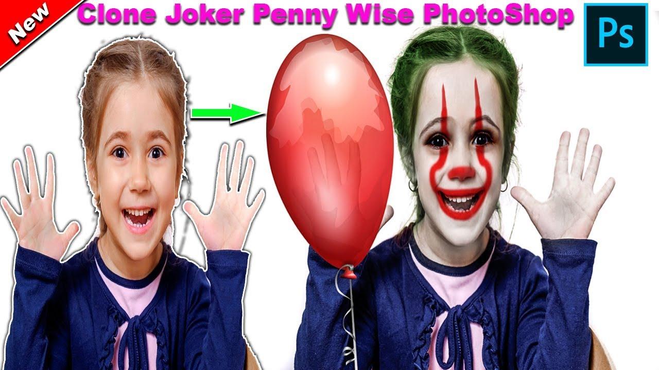 Adobe PhotoShop | IT ClownJokerPennywise | Photoshop Tutorial 2k19