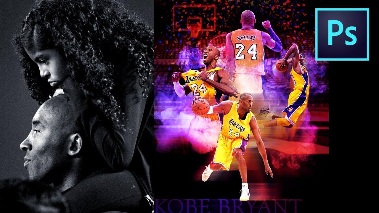Kobe Bryant tribute [ speed edit [ adobe photoshop tutorials [ tips and tricks ]