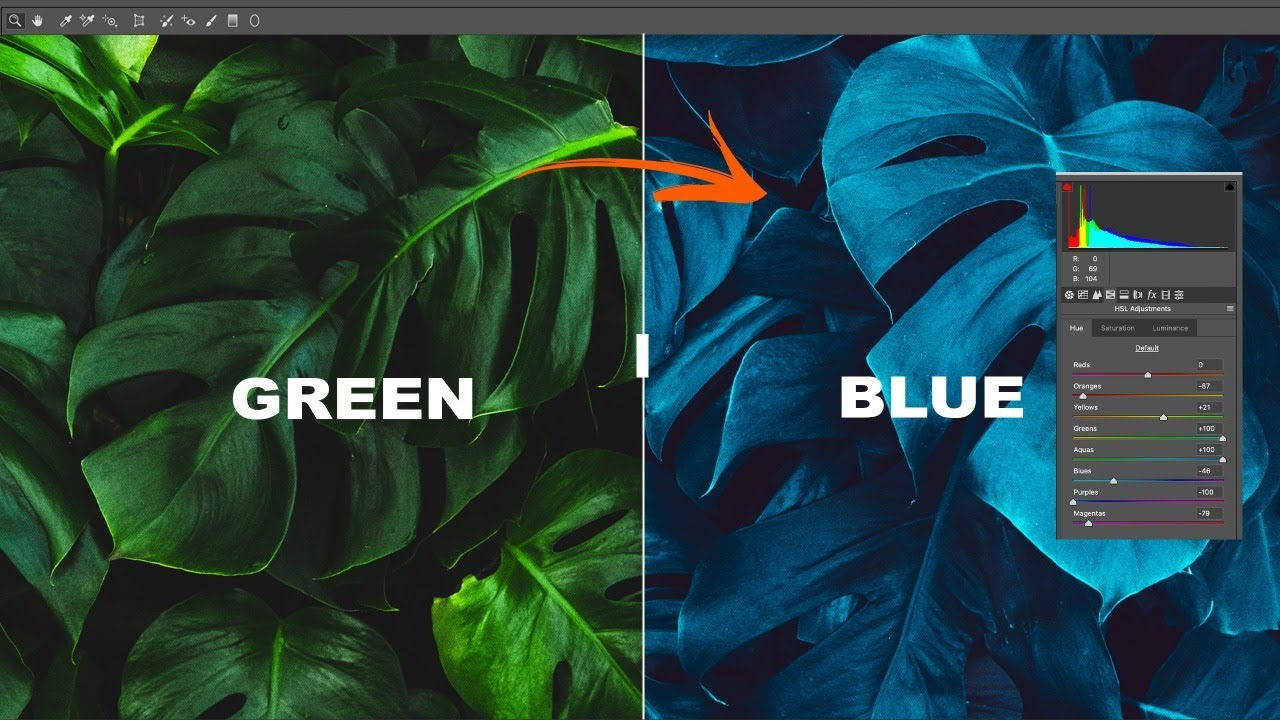 [Free Preset ]Which two colors make blue  - Photoshop tutorial 2020