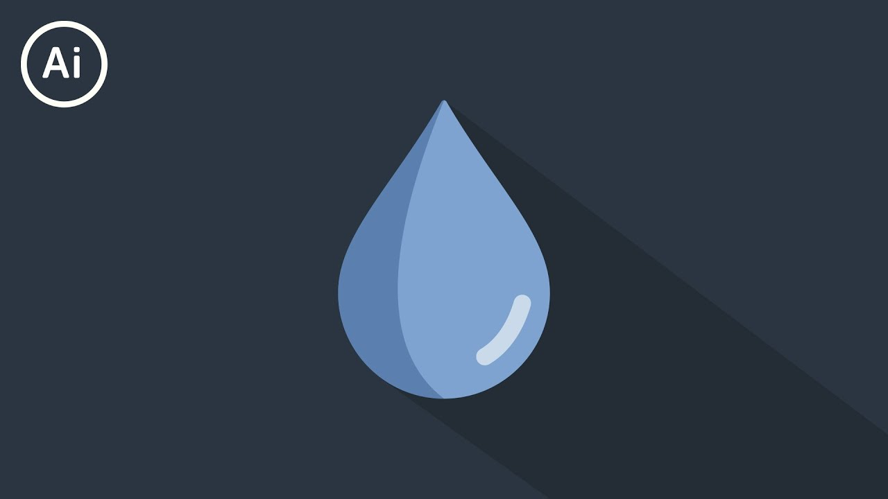 Flat Design Water Drop | Illustrator Tutorial