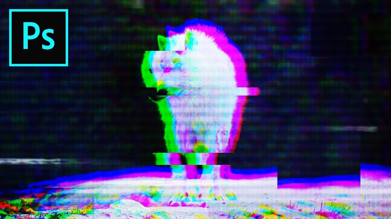 Photoshop RGB Split & Glitch Effect [ Tutorial ]