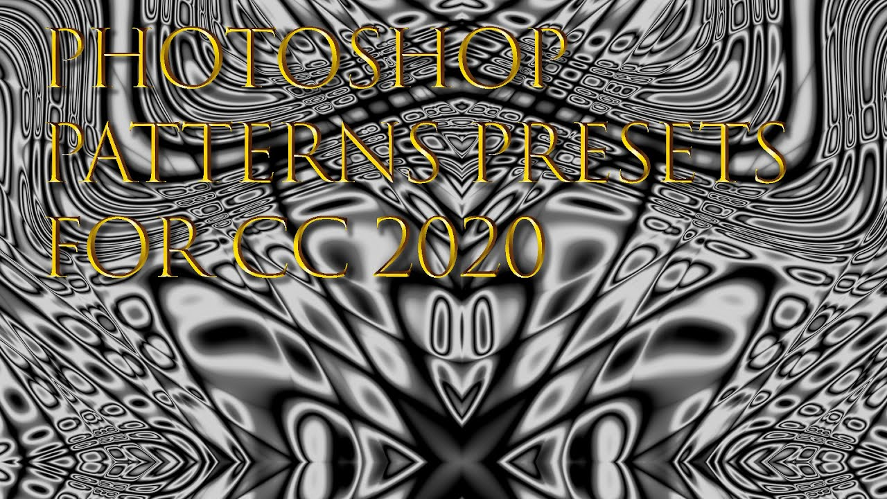 Photoshop patterns presets CC 2020 + new feature tutorial