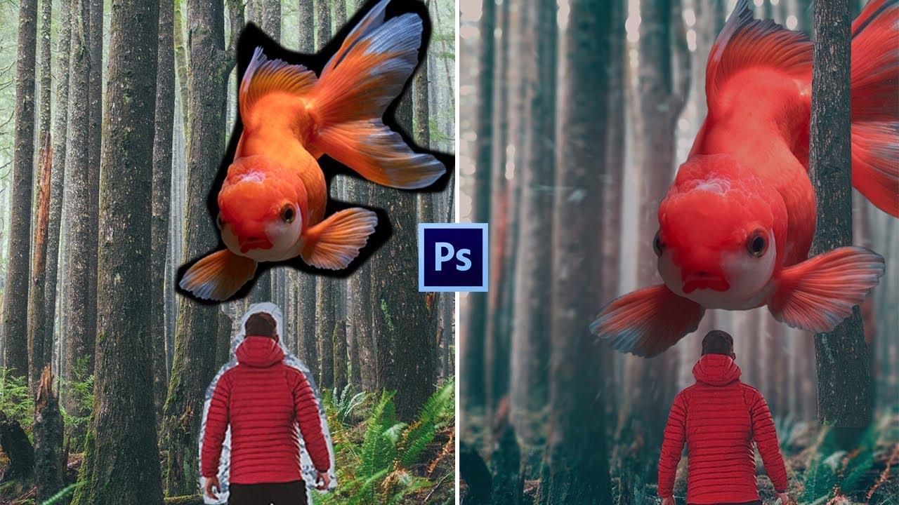 Fantasy Golden Fish Photo-manipulation | Photoshop Tutorial