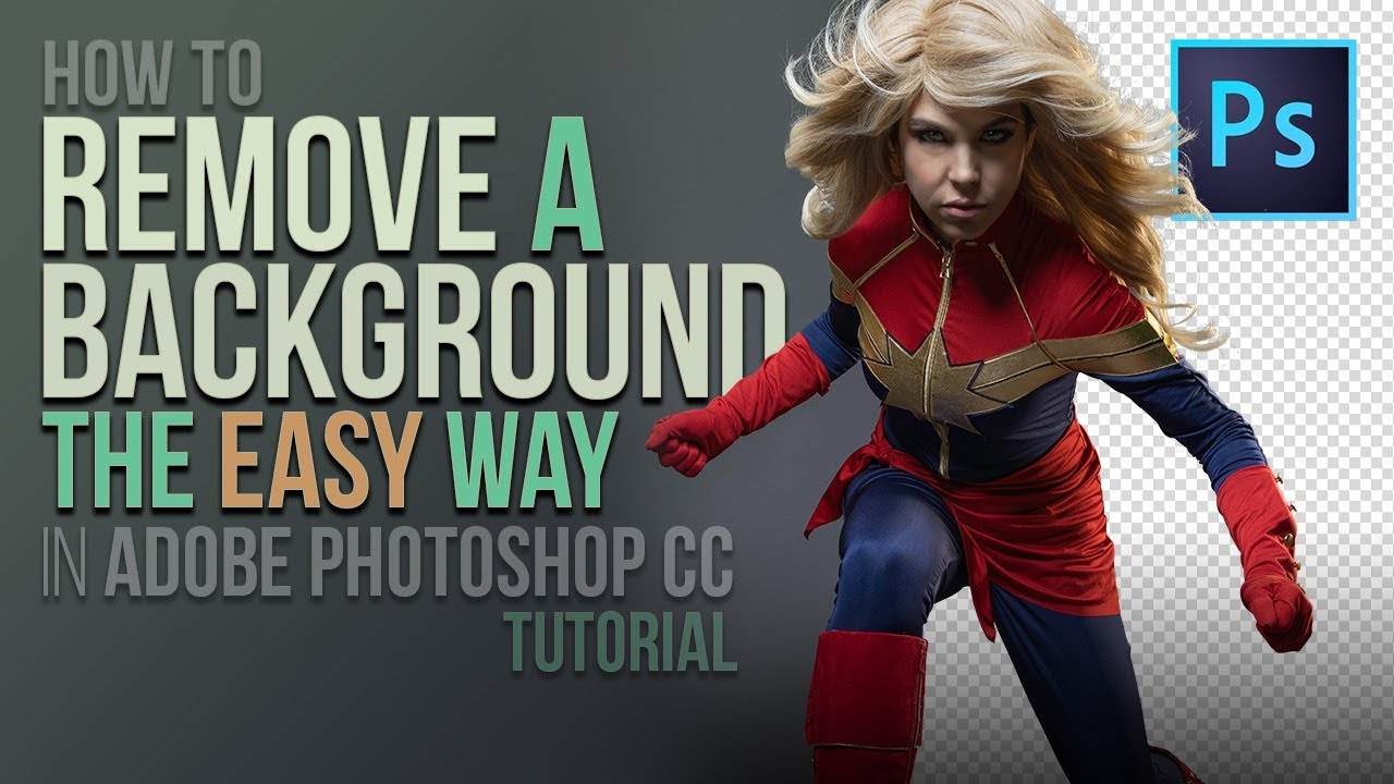 How To Remove A Background The Easy Way in Adobe Photoshop CC (Tutorial)