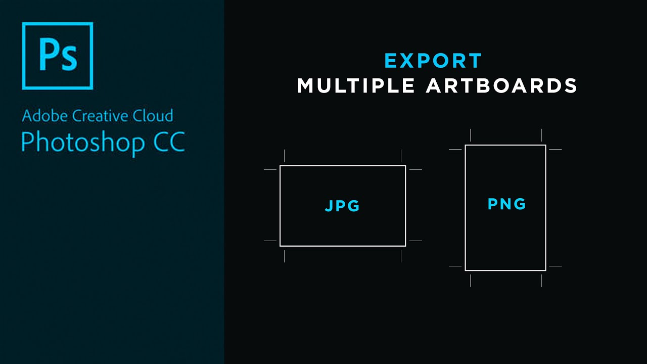 Export Multiple Images as JPG or PNG in Adobe Photoshop