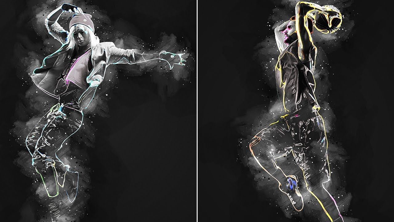 Photoshop Tutorial   Abstract Poster Photoshop Action