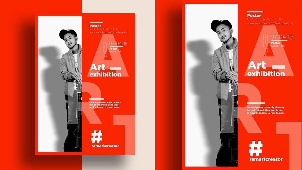 Exhibition Poster Design in adobe photoshop cc