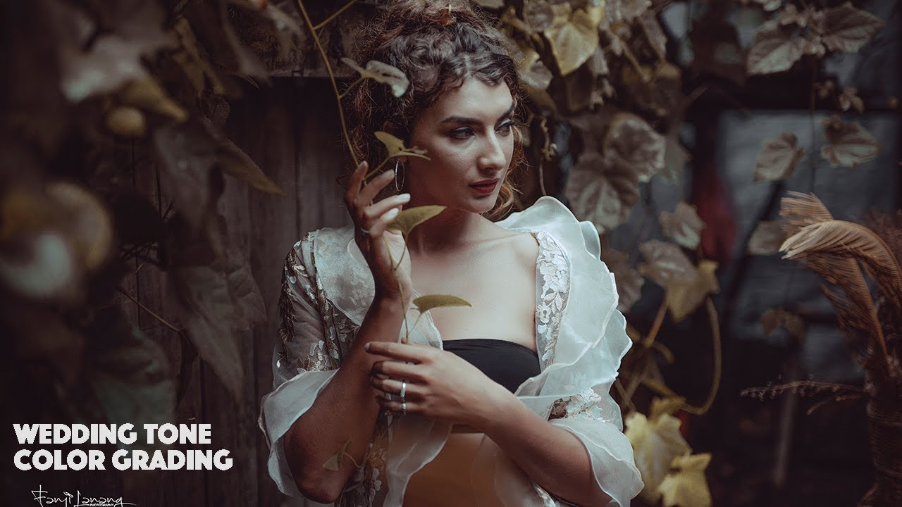 Soft Wedding Color Grading Tone Brown Photoshop Tutorial | Model Picture