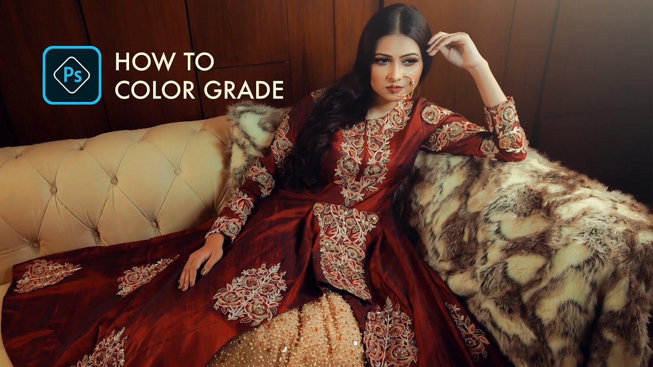 WEDDING photo color grade photoshop cc tutorial