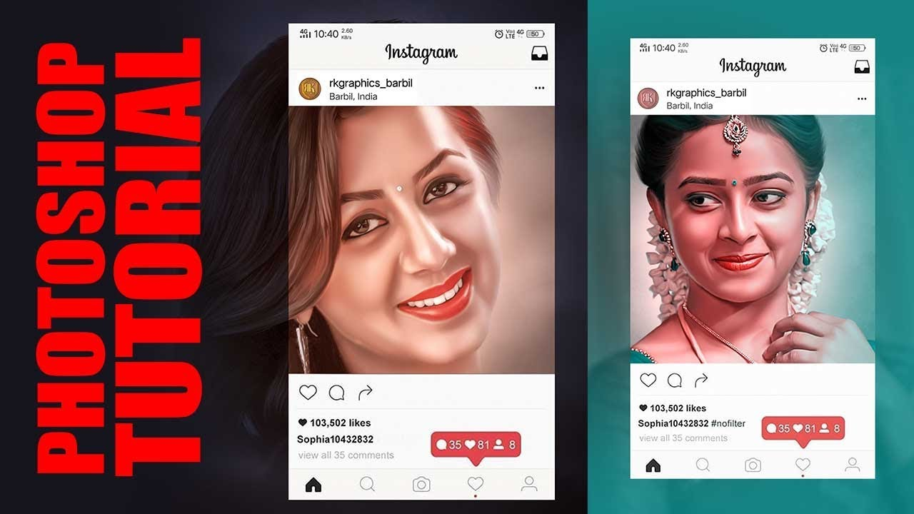 How to Create instagram photo Frame Effect   Photoshop Tutorial 2019