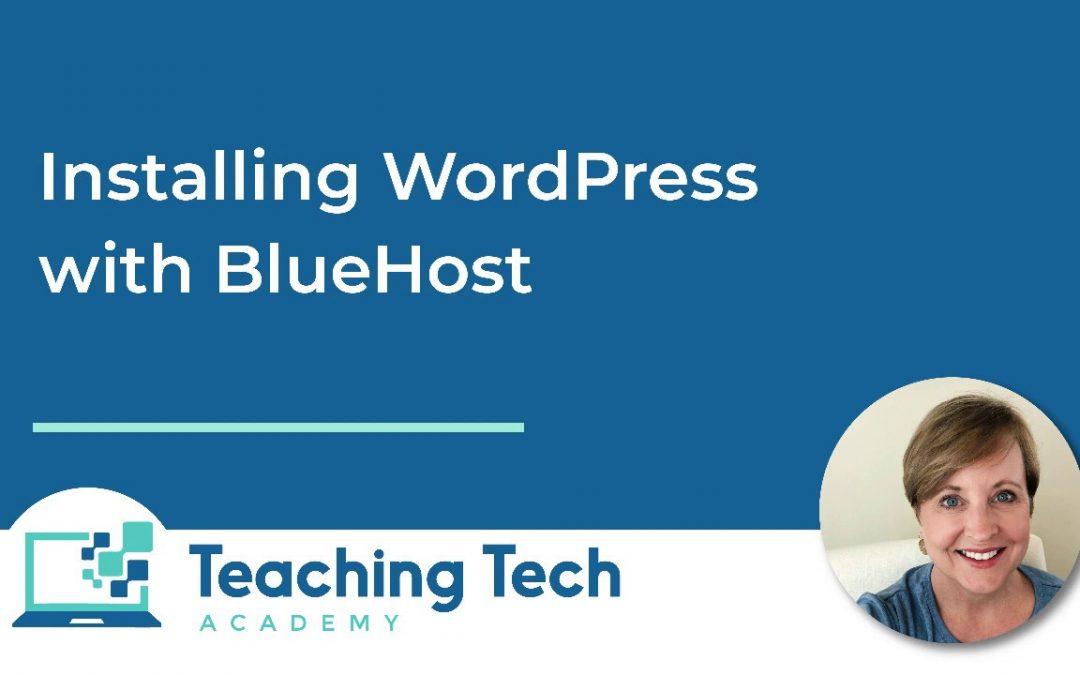 WordPress Installation with Blue Host
