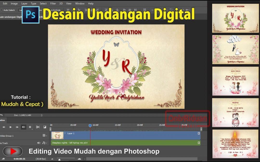 Cara Membuat Desain Video Undangan Digital dengan ...