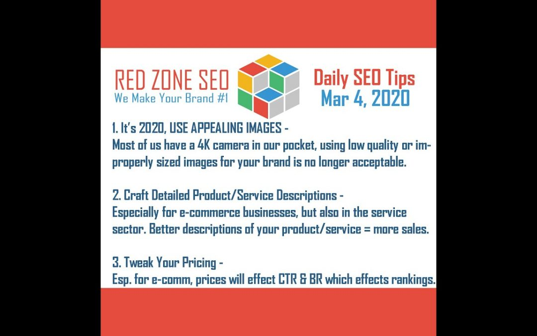 Top 3 Daily SEO Tips - March 4, 2020