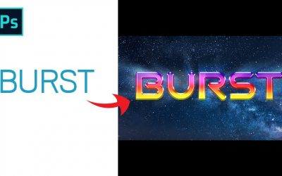 How to Burst text use in adobe Photoshop CC