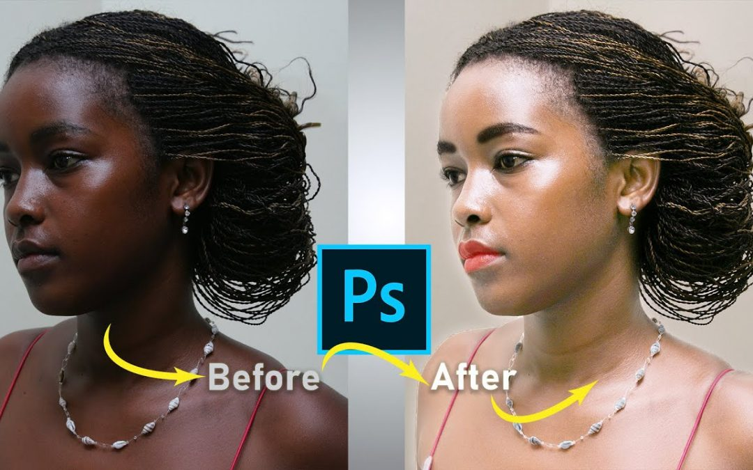 Photo retouching tutorial in photoshop cc - Change skin color