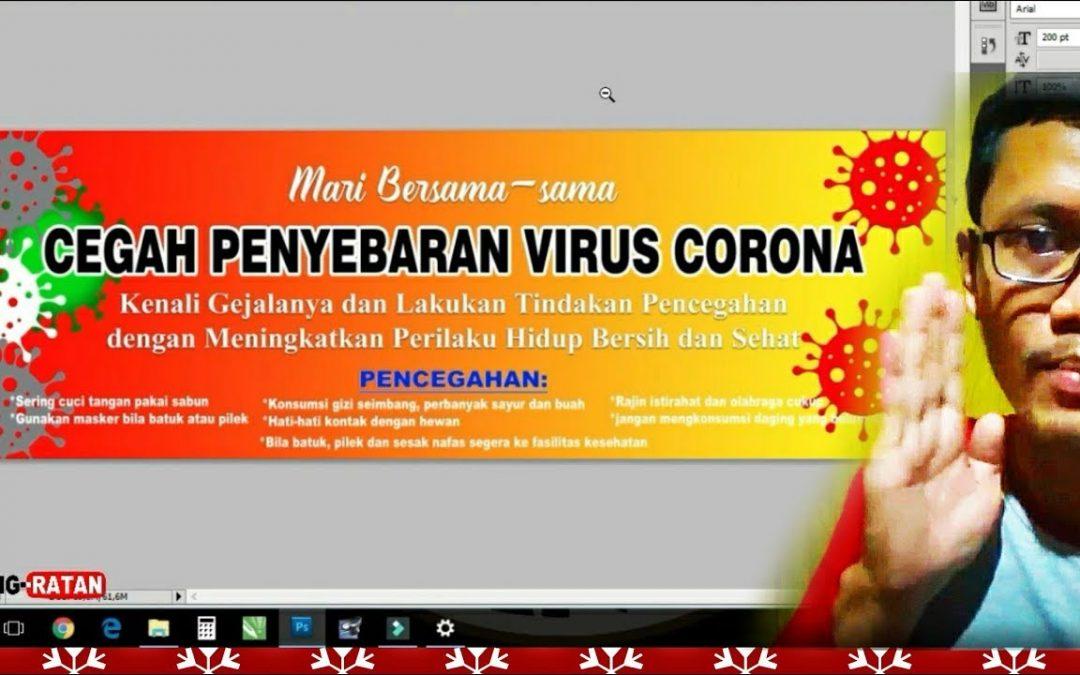 Corona Virus | Design Banner Spanduk Pencegahan dengan Adobe Photoshop