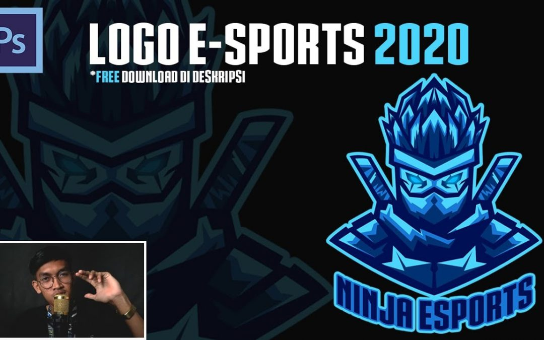 LOGO E-SPORTS 2020 | FREE DOWNLOAD | TUTORIAL MEMBUAT LOGO ESPORTS | ADOBE PHOTOSHOP CS6
