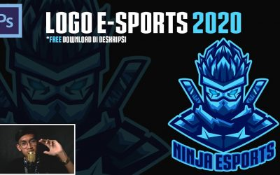 LOGO E-SPORTS 2020 | FREE DOWNLOAD | TUTORIAL MEMBUAT LOGO ESPORTS | ADOBE PHOTOSHOP CS6