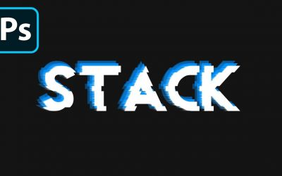 Photoshop: Text Effect – Layer Stack Effect [10]