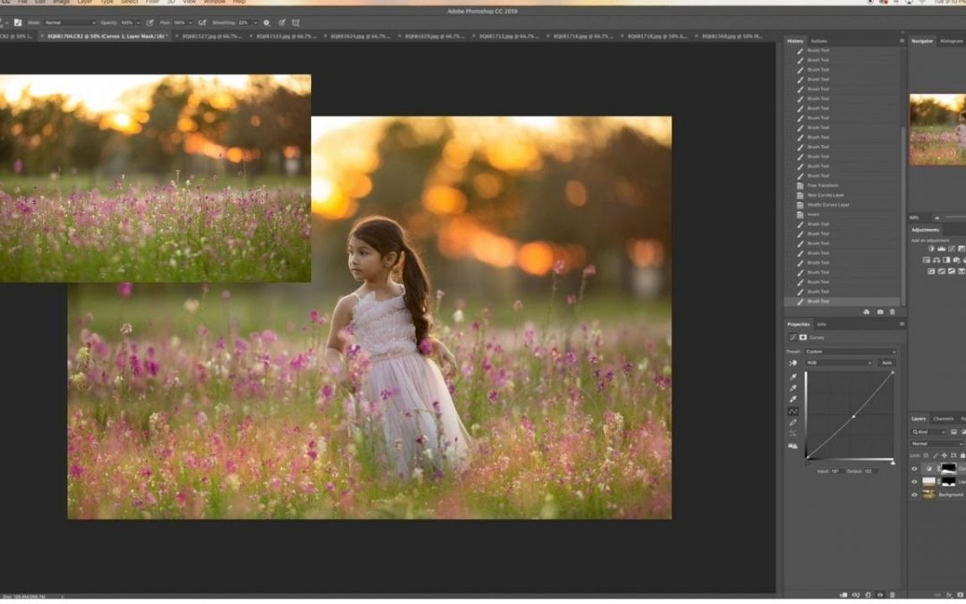 How to create wildflower digital background composites in Photoshop - editing tutorial