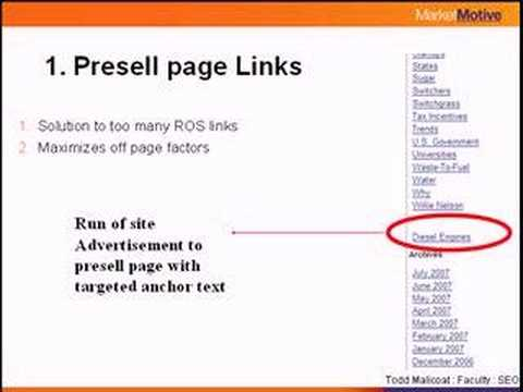 Todd Malicoat - Search Engine Optimization: 12 Link Types