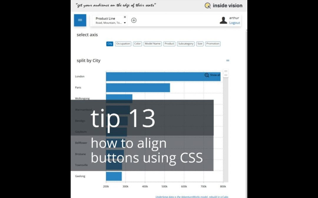 tip 13 - how to align buttons using CSS improve design