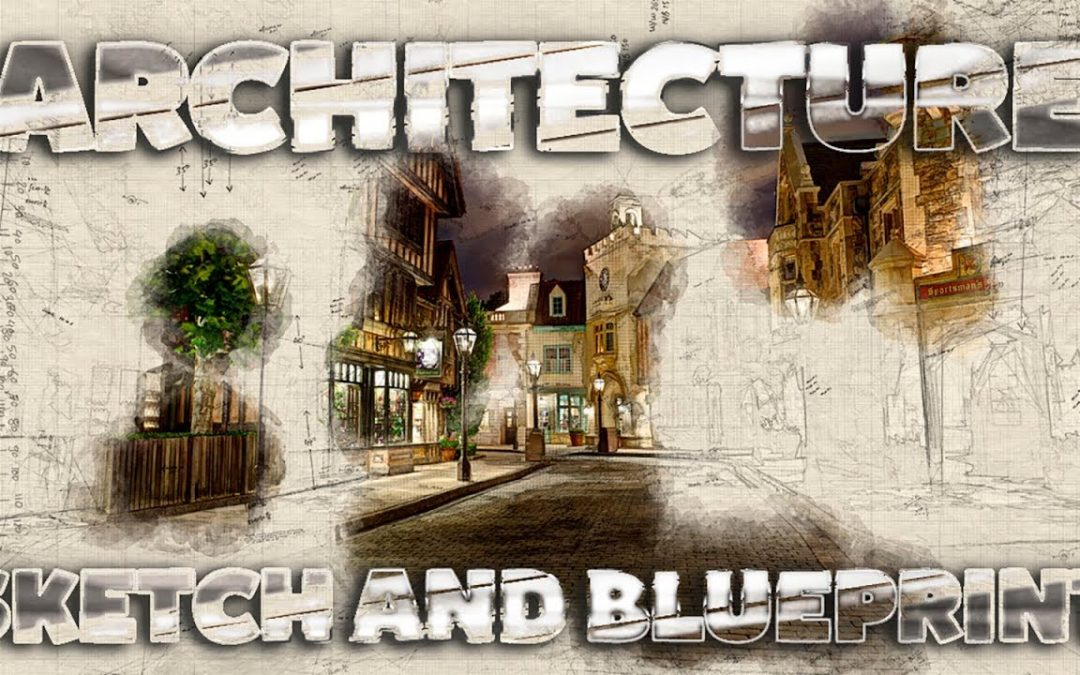 Architecture Sketch and Blueprint Effect in Adobe Photoshop CC 2019 ( Tutorial )