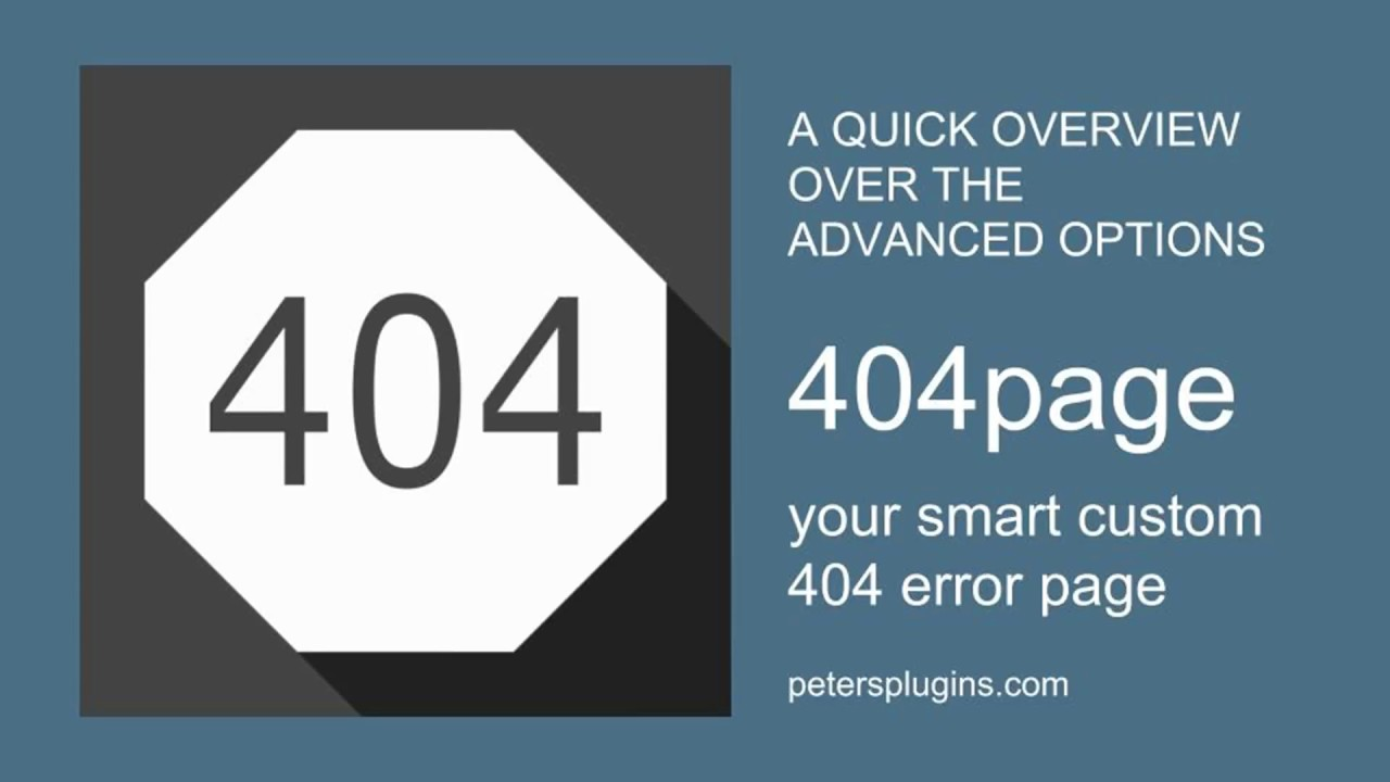 A quick Overview over the Advanced Settings of the free WordPress Plugin 404page