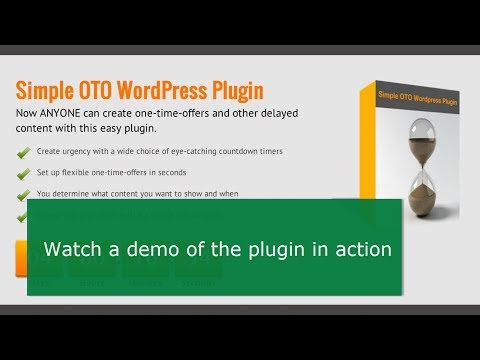 Demo of Simple OTO Wordpress Plugin