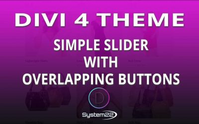 Divi 4 Simple Slider With Overlapping Buttons 👈