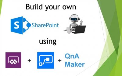 Do It Yourself – Tutorials – Build your own SharePoint Chatbot using PowerApps, Flow & QnA Maker