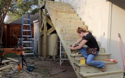 Do It Yourself – Tutorials – Building a Large Outdoor Staircase
