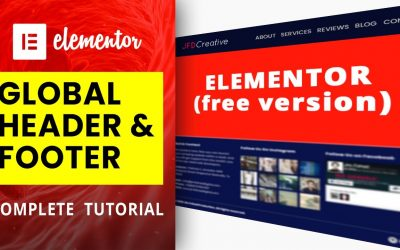 Do It Yourself – Tutorials – [FREE] How to Create Global HEADER & FOOTER in Elementor | Elementor Tutorial