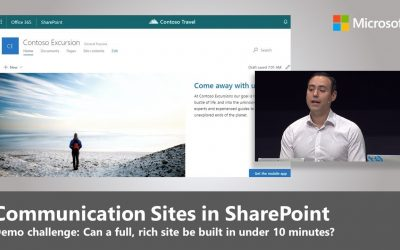 Do It Yourself – Tutorials – New Communication Sites in SharePoint: How to build an impactful site in under 10 minutes