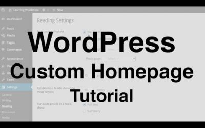 Do It Yourself – Tutorials – WordPress Custom Homepage Tutorial