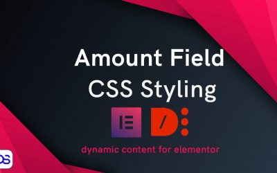 Dynamic content for Elementor plugin- Style form amount field with CSS