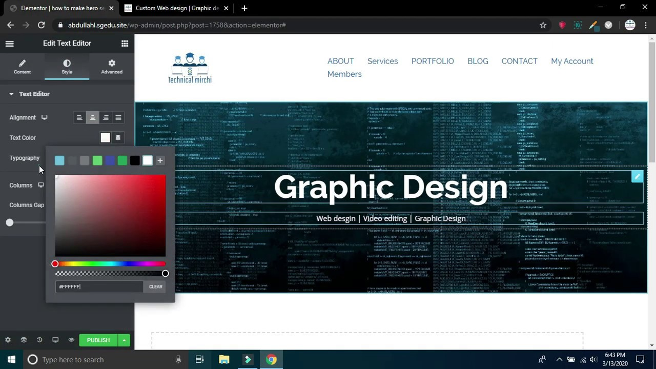 Elementor pro Tutorial: How to make Hero Section Design in ...