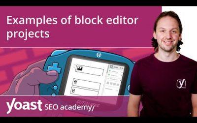 Examples of WordPress block editor projects | Block editor training