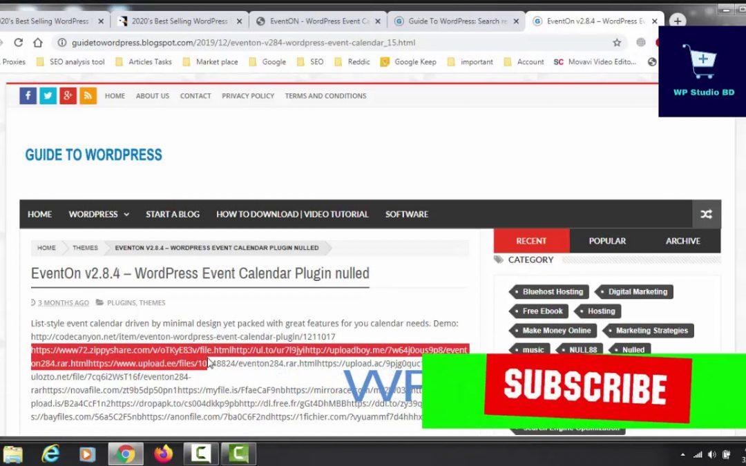 How to Free Download EventON WordPress Plugin | WP Studio