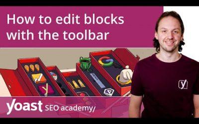 How to edit blocks with the toolbar in the WordPress block editor | Block editor training