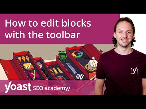 How to edit blocks with the toolbar in the WordPress block editor   Block editor training