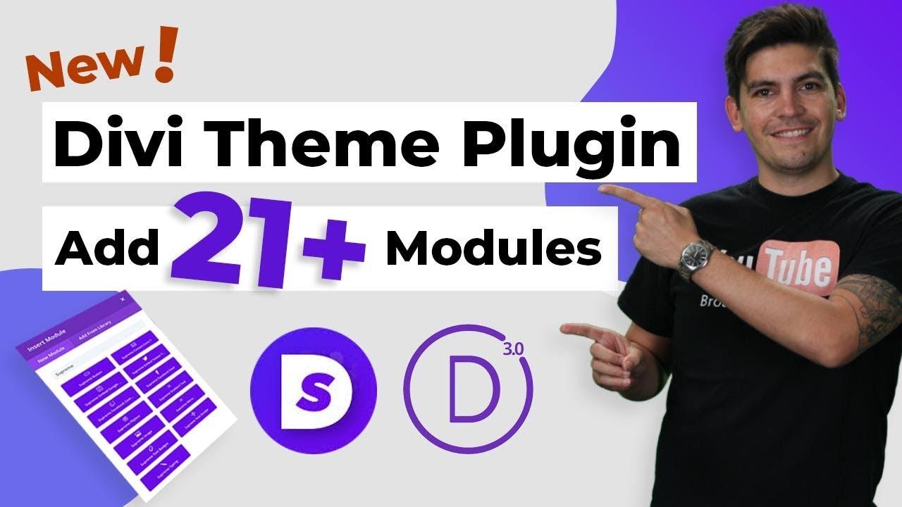Nouveau plugin de thème Divi!  - Ajoutez 21 autres modules Divi au thème Divi!