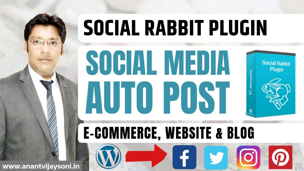 Social Media Auto Post Plugin for WordPress Websites & Blog - Social Rabbit Plugin Review - Hindi