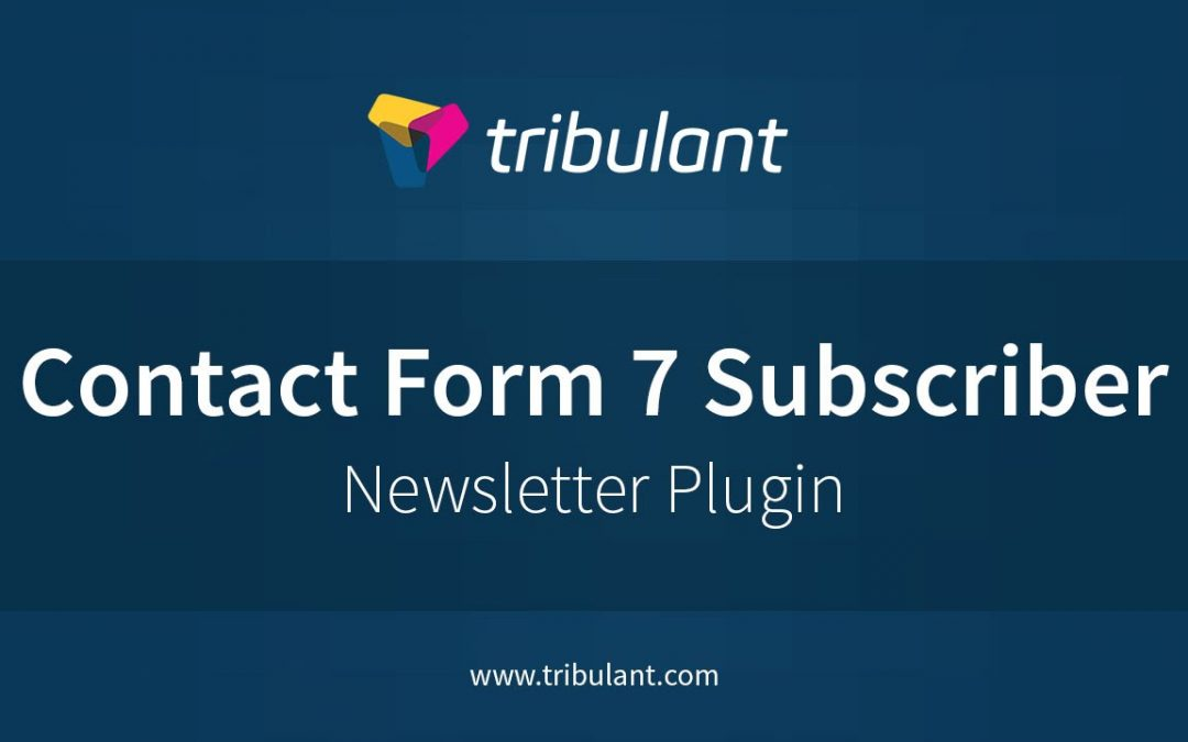 WordPress Newsletter plugin - Contact Form 7 subscribers